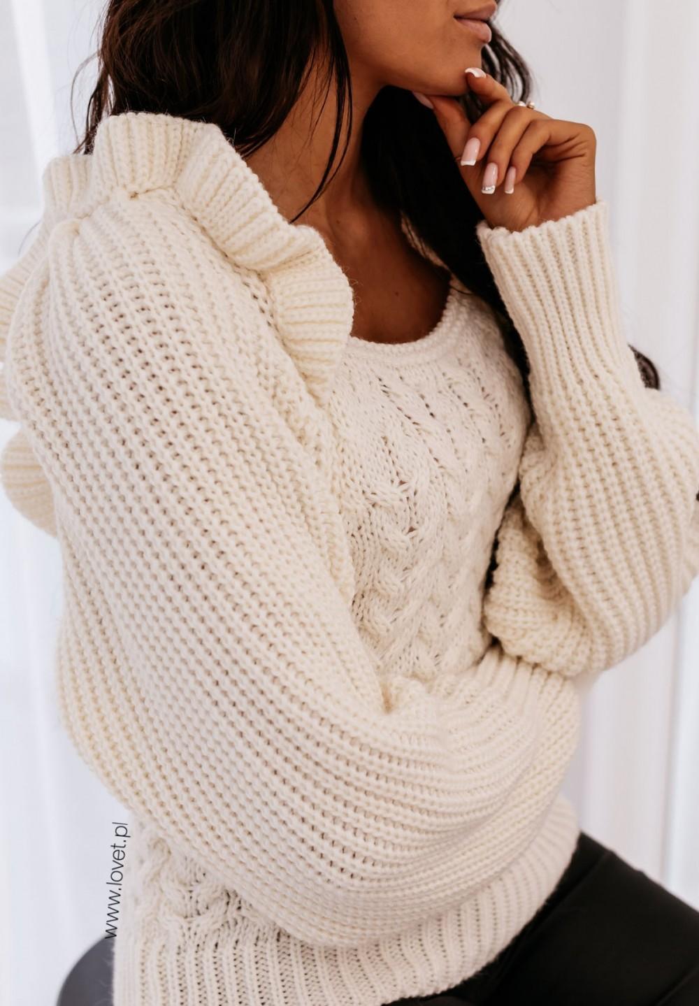Kremowy Sweter Selina