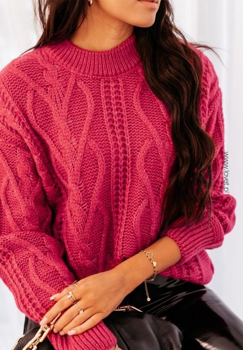 Sweter Różowy Ramia