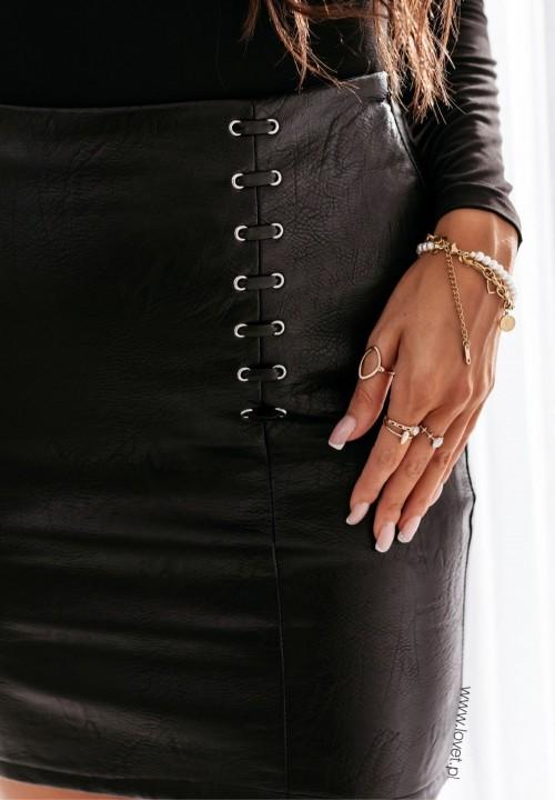 Spódnica Skórzana Czarna Morisa