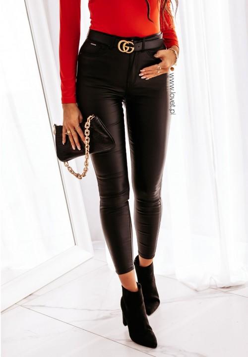 Spodnie Woskowane Czarne Lesine