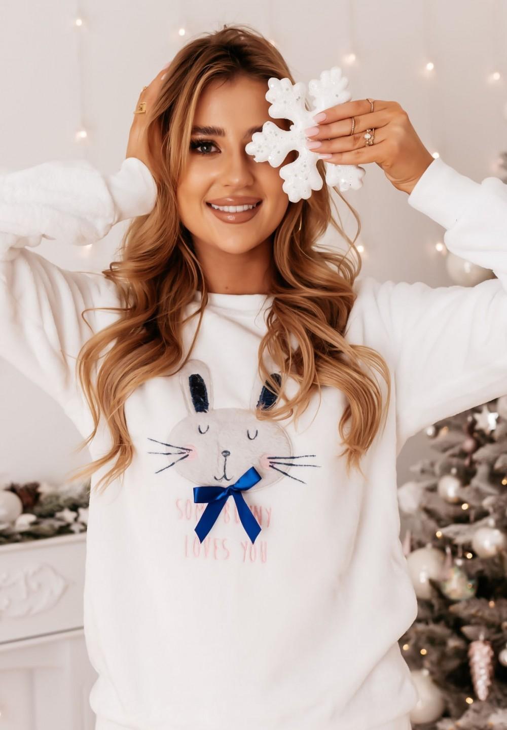 Piżama Dwuczęściowa z Królikiem Biała Rabbit