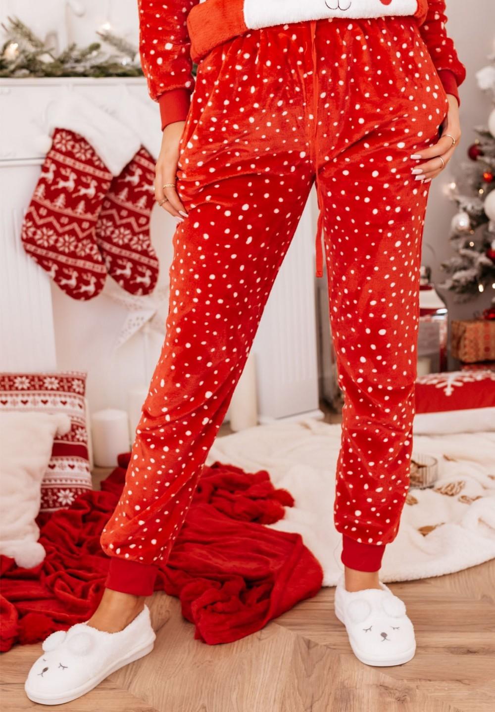 Piżama Dwuczęściowa Czerwona z Misiem Gummy