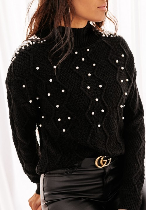 Sweter Czarny Pearl New