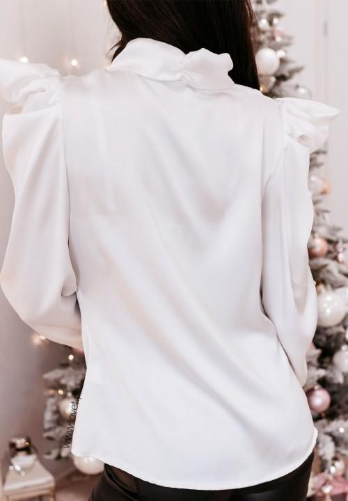 Bluzka Atłasowa Biała Verse