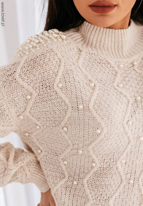 Sweter Kremowy  Pearl New