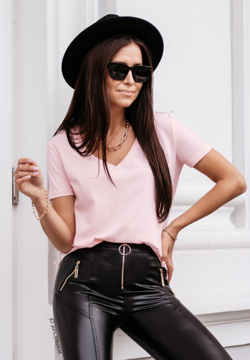 T-shirt Różowy Classy