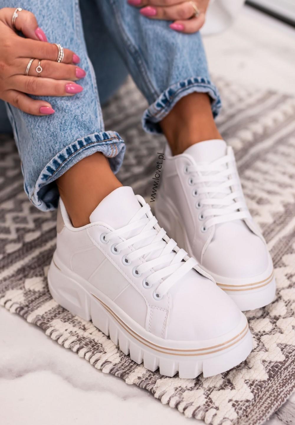 Trampki Sneakersy Beżowe Quick