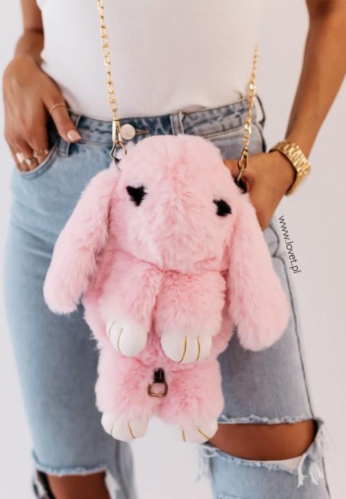 Torebka Królik na Łańcuszku Różowa Sweet Bunny