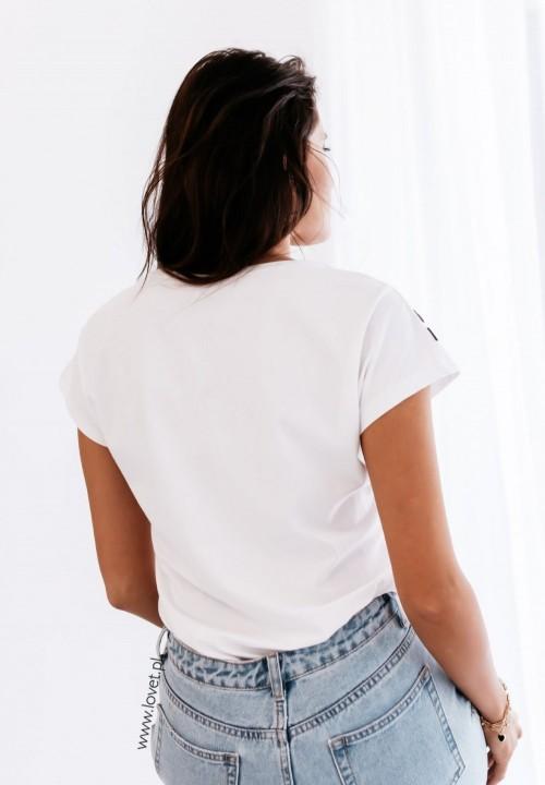 T-shirt Biały z Myszką Minnie