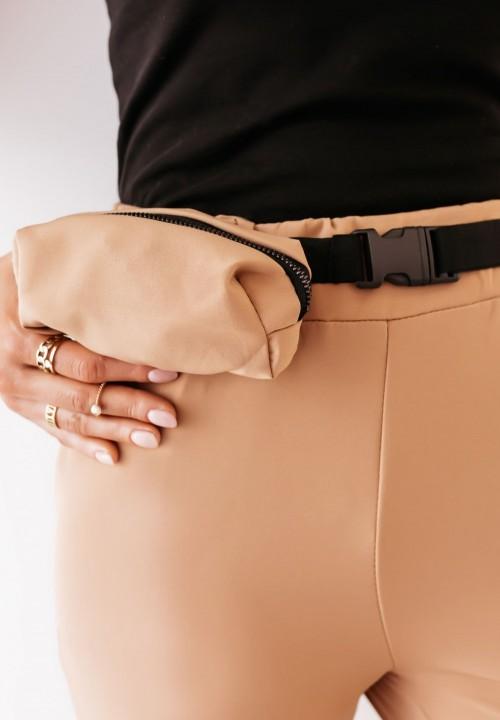 Spodnie Camelowe ze Ściągaczami Darwin