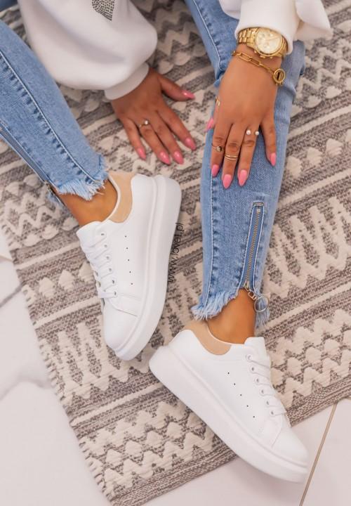 Trampki Sneakersy Beżowe Avery