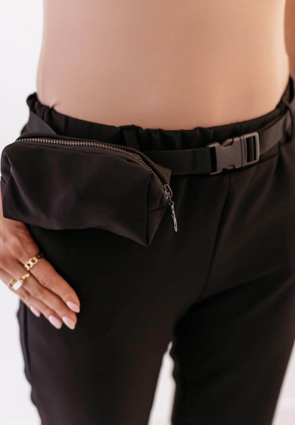 Spodnie Czarne ze Ściągaczami Darwin