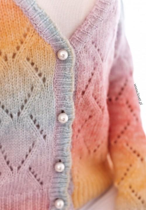 Sweter Kardigan Pastelowy Verin
