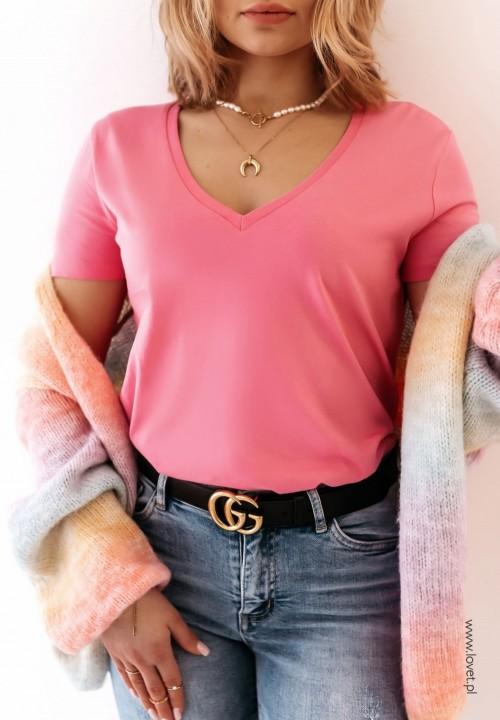 T-shirt Ciemno Różowy Classic