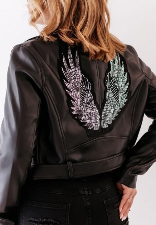 Ramoneska Czarna ze Skrzydłami Wings