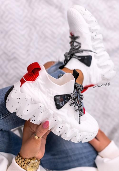 Trampki Sneakersy z Elastyczną Cholewką Białe Qube