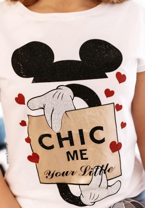 T-shirt Biały z Myszką Mickey