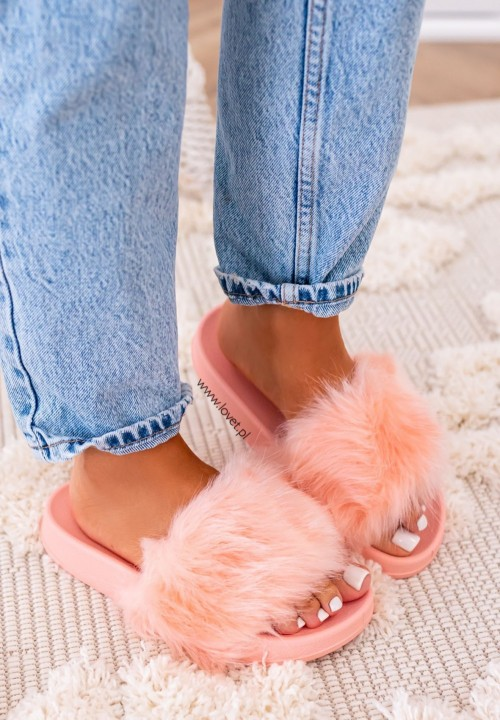 Klapki Gumowe Różowe Fluffy Long