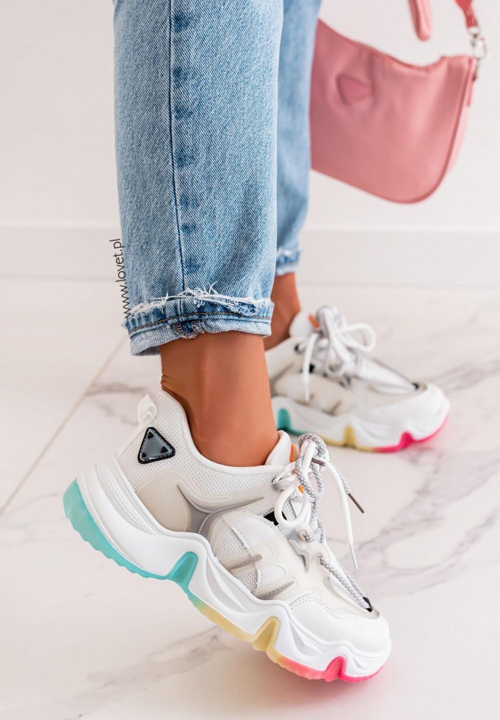 Trampki Sneakersy Multikolor Czarne Evelina