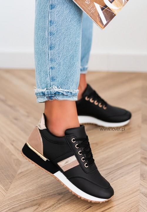 Trampki Sneakersy Czarne Aliss