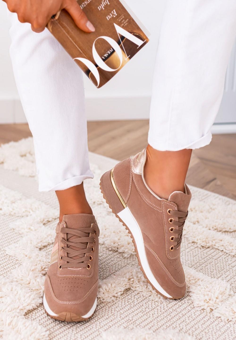 Trampki Sneakersy Khaki Aliss