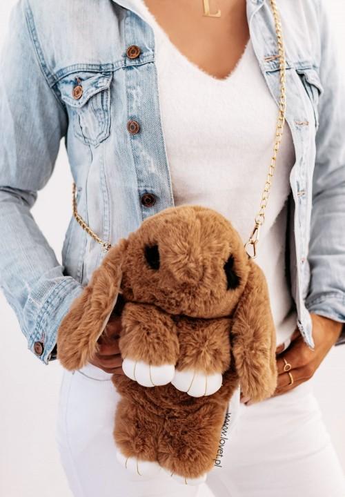 Torebka Królik na Łańcuszku Camelowa Sweet Bunny
