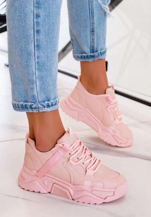 Trampki Sneakersy Sportowe Różowe Seline