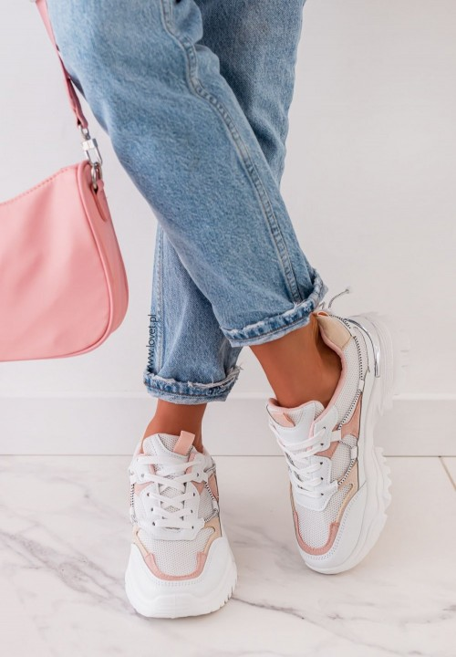 Trampki Sneakersy Różowe Giorgia