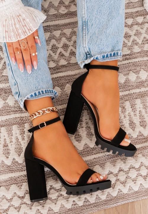 Sandały Na Platformie Czarne Sue