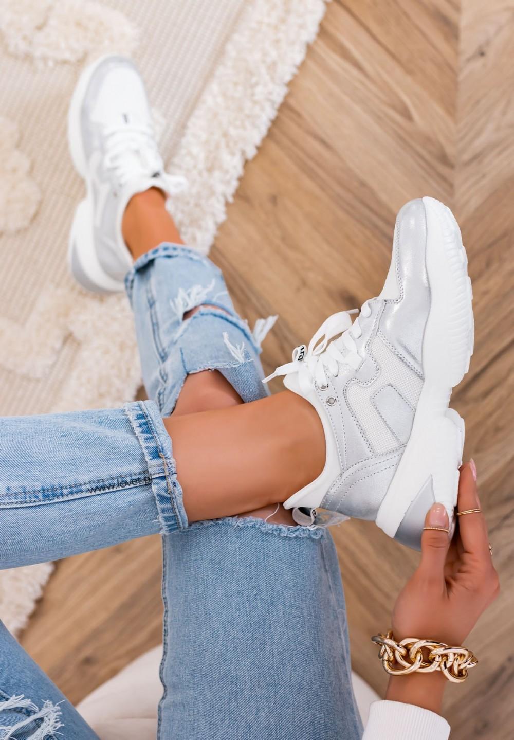 Trampki Sneakersy Sportowe Białe Vienna