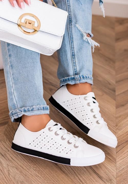 Trampki Sneakersy Sznurowane Czarne Ross