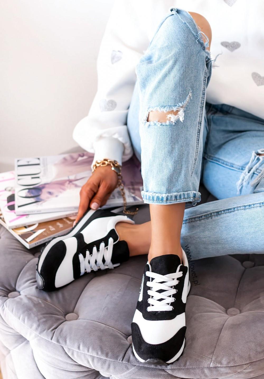 Trampki Sneakersy Czarne Ramis