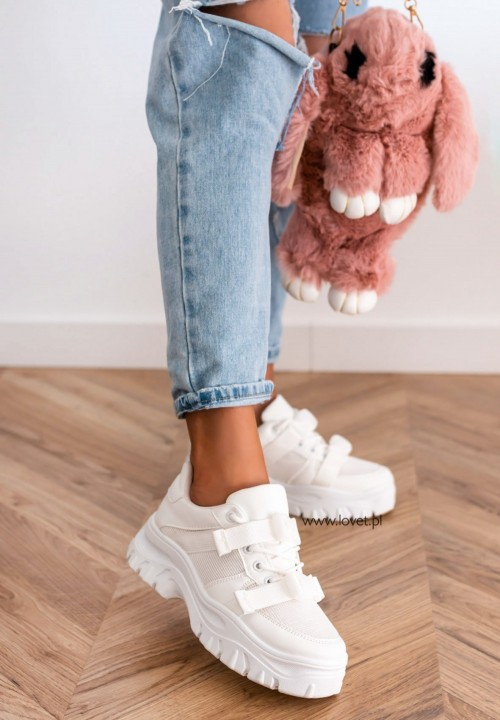 Trampki Sneakersy Białe Nati