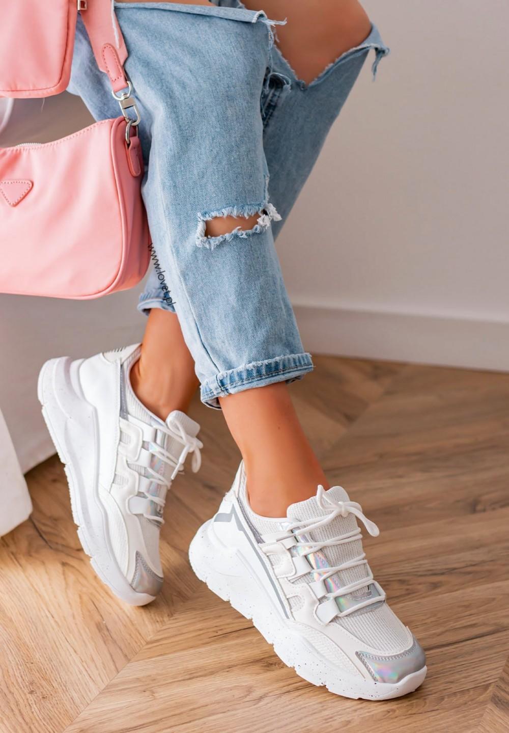 Trampki Sneakersy Białe Lynn