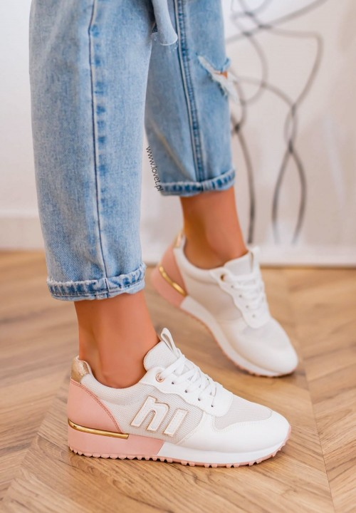 Trampki Sneakersy Siateczkowe Khaki Aliss