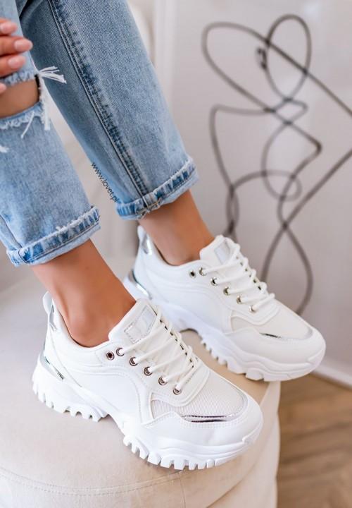 Trampki Sneakersy Białe Elvira
