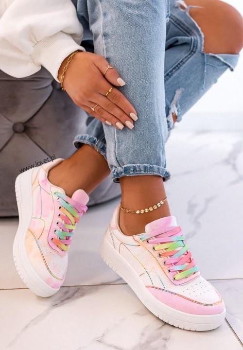 Trampki Sneakersy Różowe Cecilia
