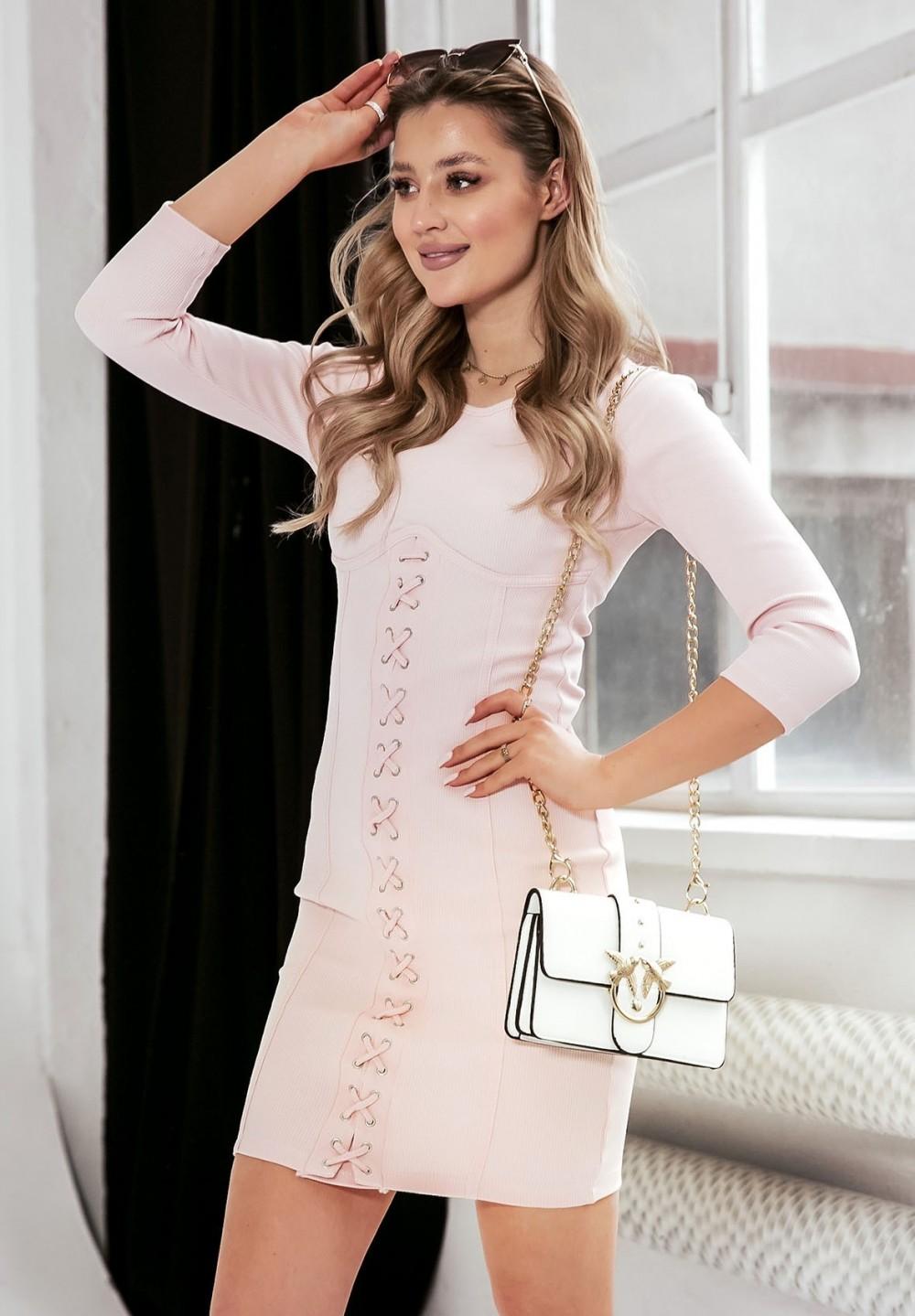 Sukienka Różowa Corrine