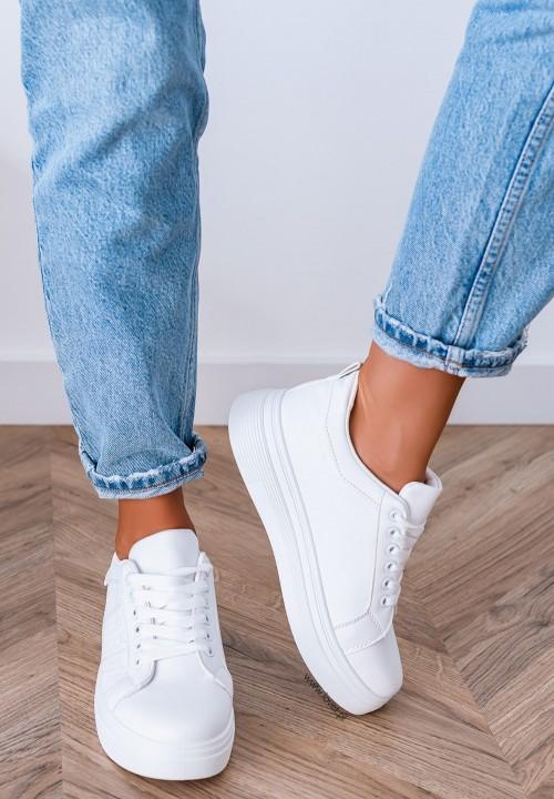 Trampki Sneakersy Białe Gwyneth