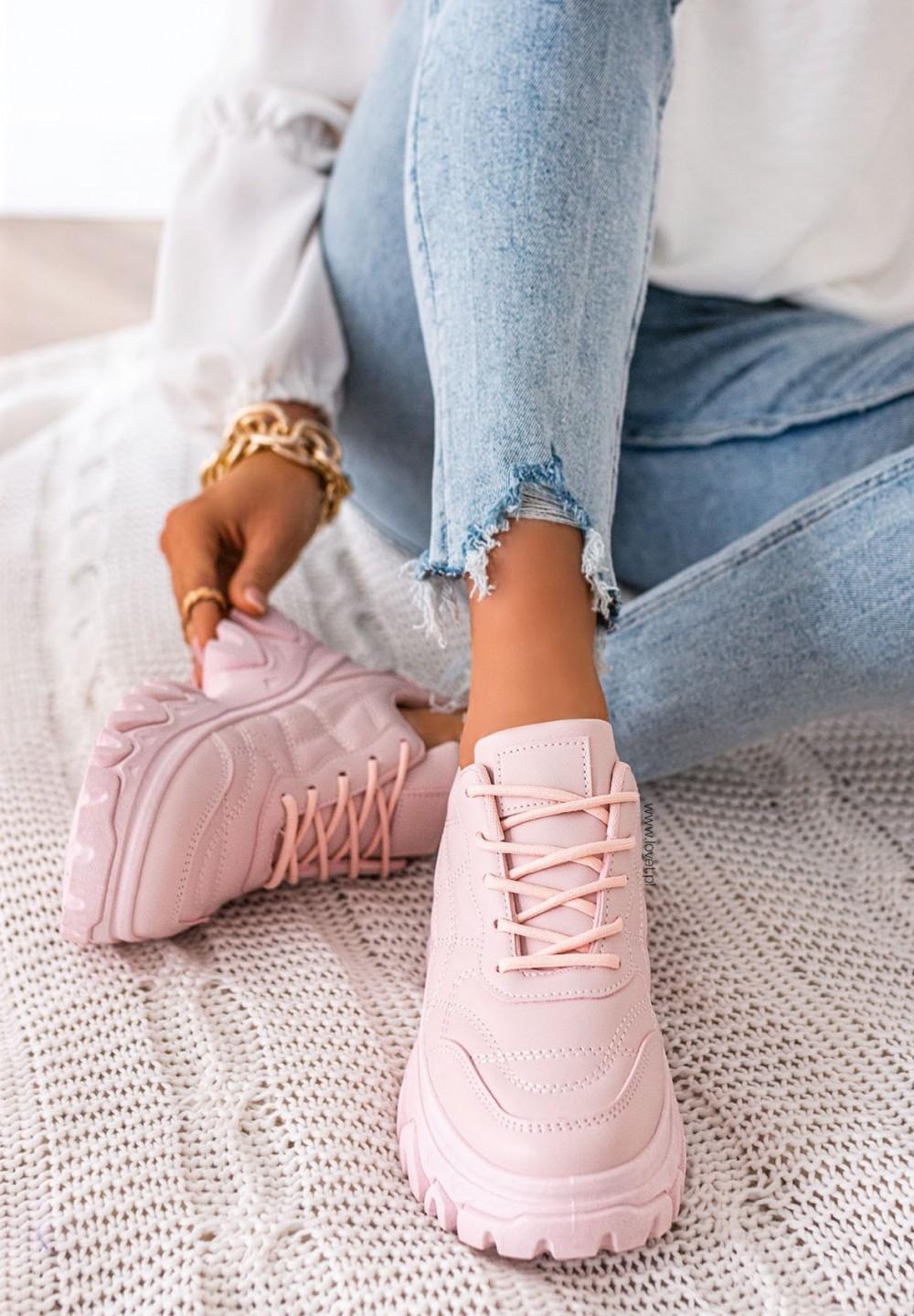 Trampki Sneakersy Różowe  Editta