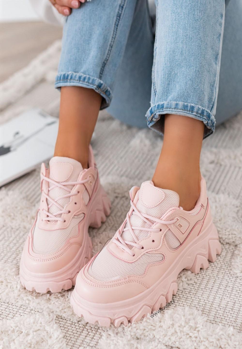 Trampki Sneakersy Różowe Sylviane