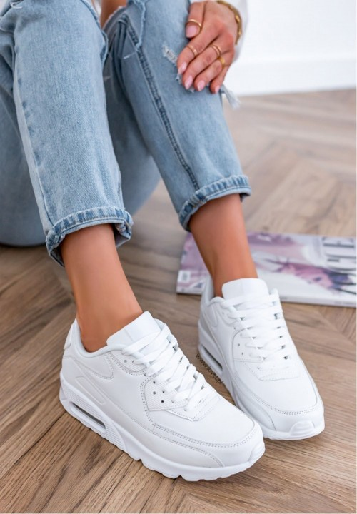 Trampki Sneakersy Białe Anis