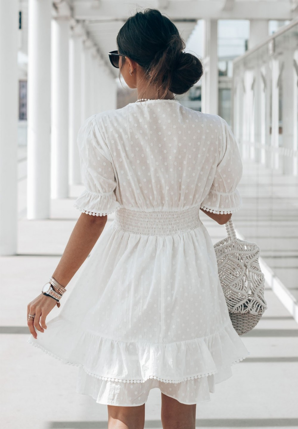 Sukienka Kremowa Noelia