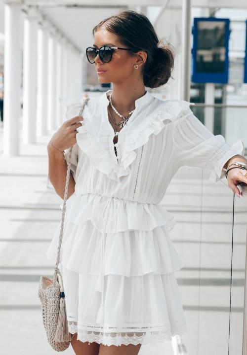 Sukienka  Kremowa Kaysa