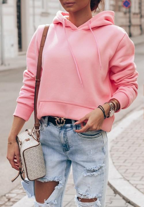 Bluza Kangurka Różowa  Loraine