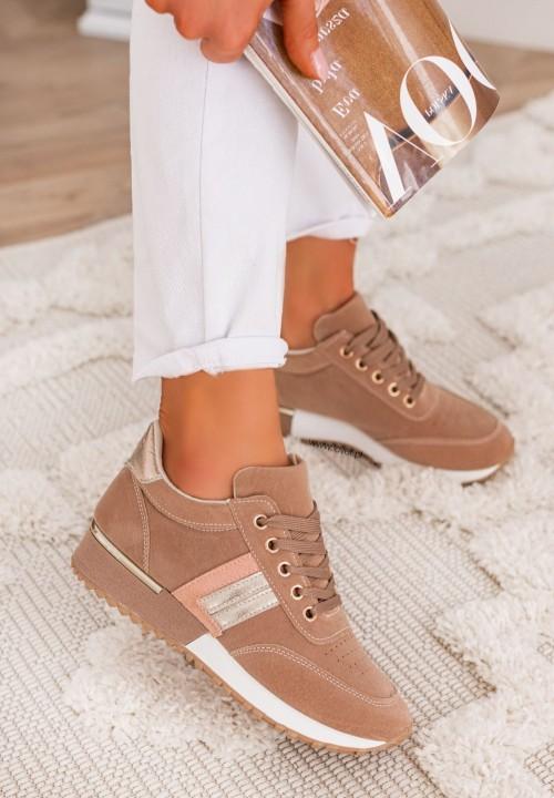 Trampki Sneakersy Różowe Aliss