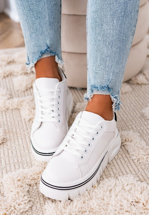 Trampki Sneakersy Białe Quick