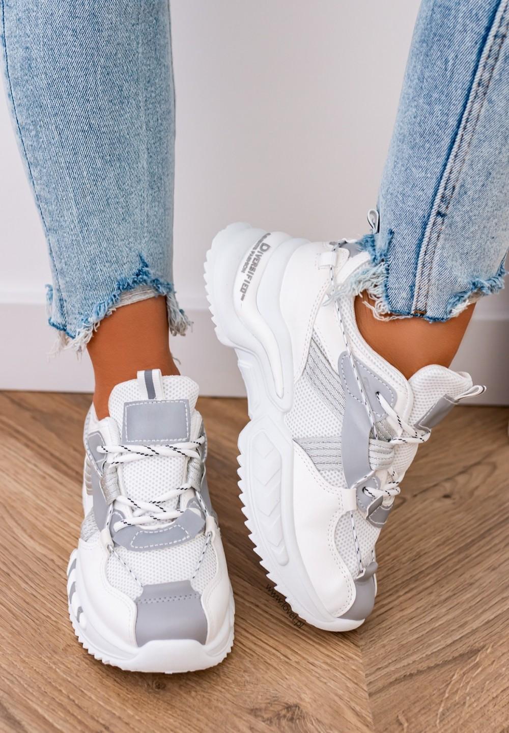 Trampki Sneakersy Siateczkowe Białe July