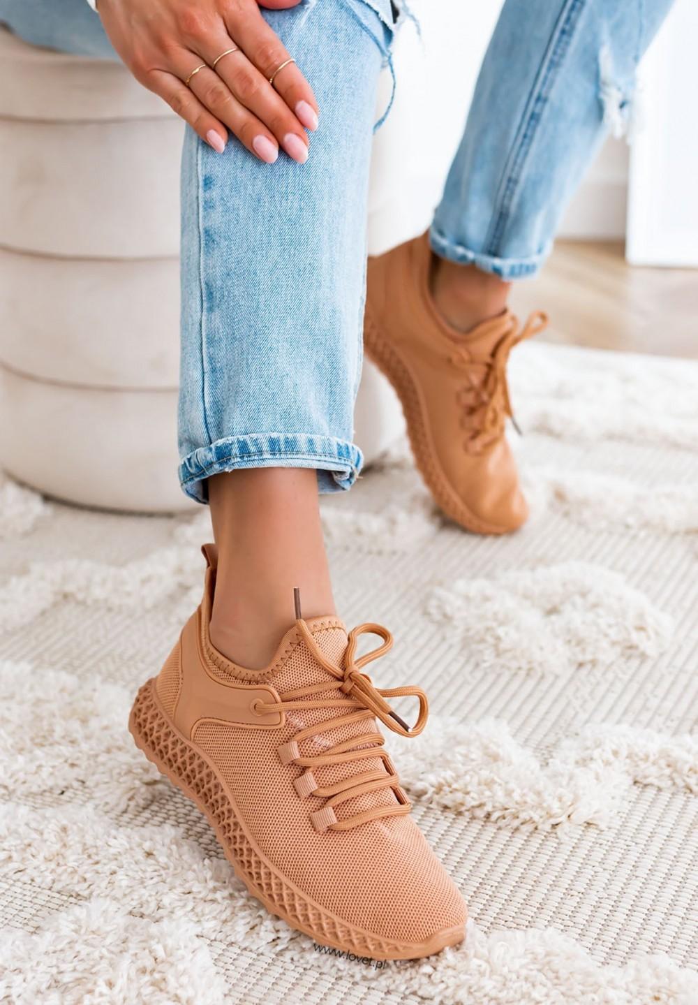 Trampki Sneakersy Siateczkowe Camel Leris