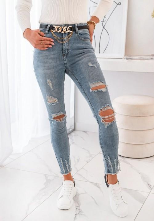 Spodnie Jeansy z Paskiem Milano
